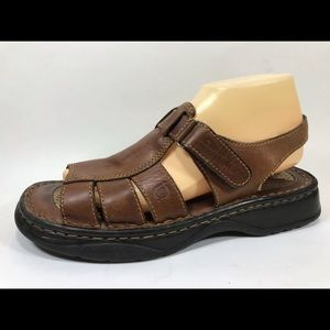 Born Leather Fisherman Slingback Sandals 9M